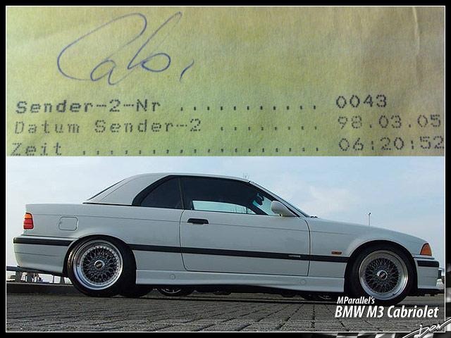 BMW E36 M3 3 2 cabrio Alpinweiss on Schwarz - E36 Cabrio