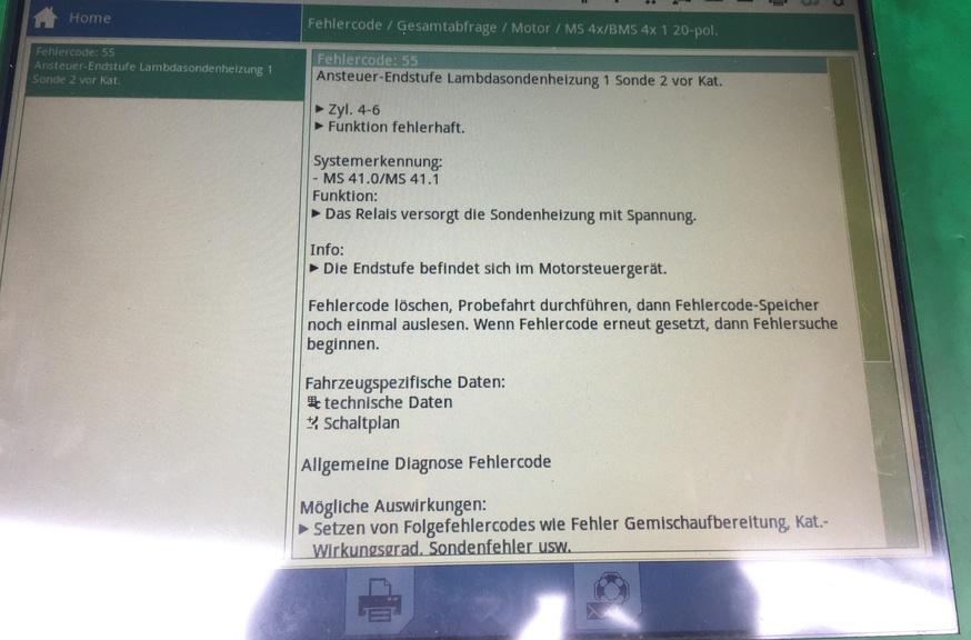Fehlercode 55: Lambdasondenheizung / Lambdasondenrelais - KFZ ...
